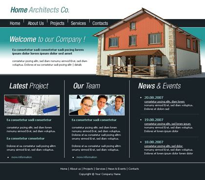 free templates for website building free website templates with architecture theme 1