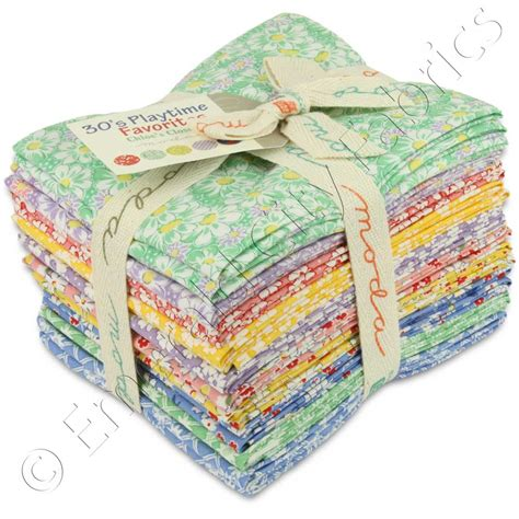 Quilting Fabric Bundles by Moda Quarter Bundle 30s Playtime Favorites Quilting
