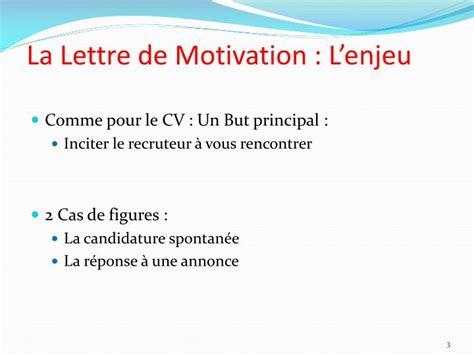 Présentation Lettre De Motivation Email Ppt La Lettre De Motivation Powerpoint Presentation Id 3792524