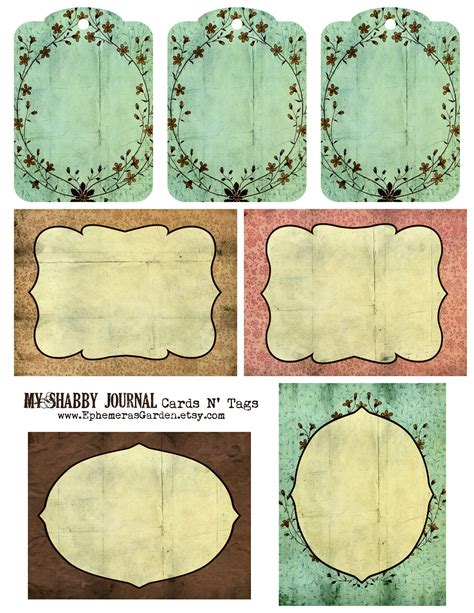 printable journal tags ephemera s vintage garden weekly freebie shabby chic