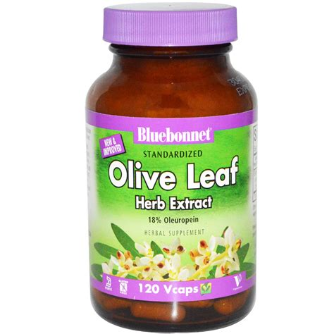 Sho Olive Nutrient Herbal bluebonnet nutrition olive leaf herb extract 120 vcaps