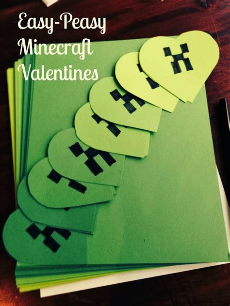 diy minecraft valentines easy peasy minecraft valentines