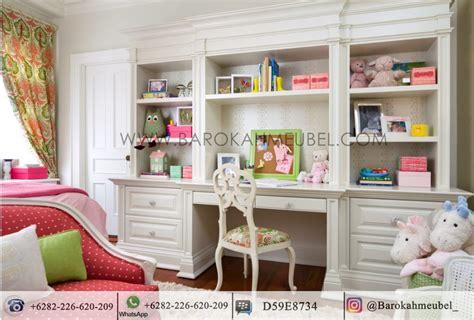 lemari hias plus meja belajar barokah meubel jepara
