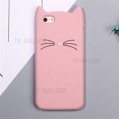 Iphone 6 Plus 6s Plus Cat 3d Soft Casing Cover Sarung Karakter 3d moustache cat soft silicone phone for iphone 6s plus 6 plus pink