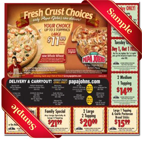 papa john s discount vouchers papa johns coupons 50 percent