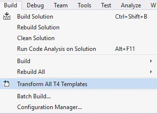 t4 templates look at visual studio 2015 ide tips
