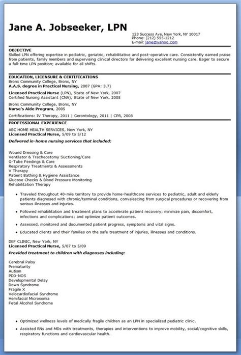 Nursing Objectives Resume by Sle Lpn Resume Objective Nursing Nursing And Resume
