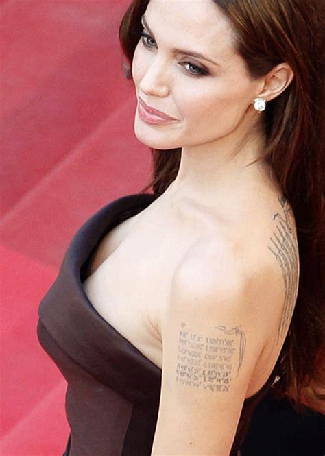 angelina jolie geographical tattoo angelina jolie talks dark past drugs i shouldn t be