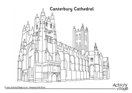Canterbury Cathedral Colouring Page