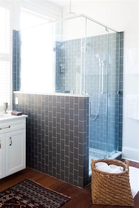 vertical subway tile vertical subway in grey yummy rental bathroom pinterest