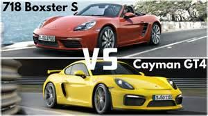 2017 porsche 718 boxster s vs cayman gt4