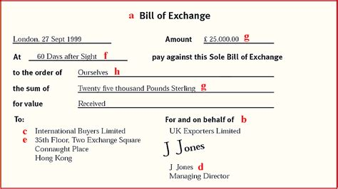Real Letter Of Credit What Is A Bill Of Exchange Daक ष Carrer Point