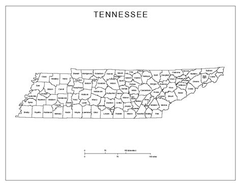 map of tennessee counties tennessee labeled map