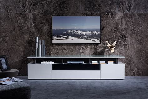 tv stand in middle of room modrest hurst contemporary grey gloss tv stand