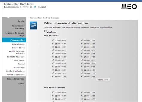 Tutorial Php Router | tutorial router meo como definir o hor 225 rio de acesso 224