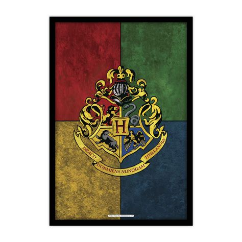 harry potter what house official quot harry potter quot house crest 3 poster mc sid razz