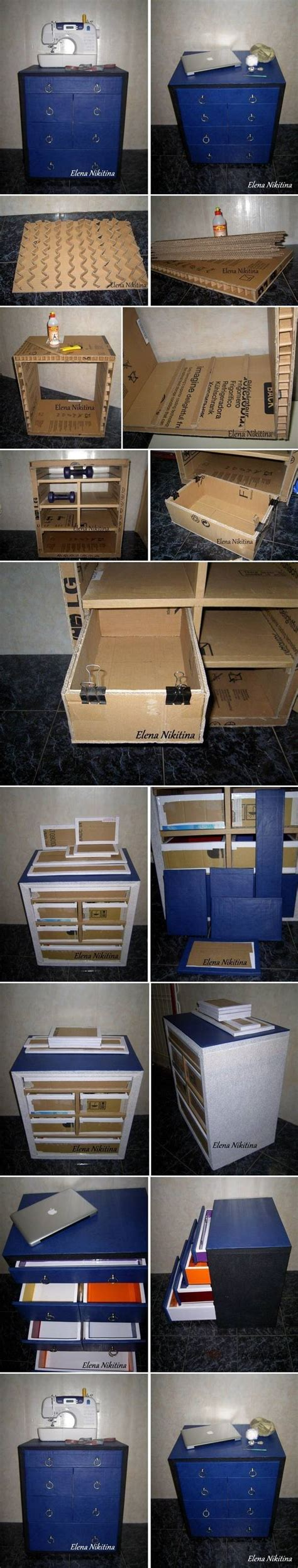 How To Make Cardboard Drawers by How To Make Cardboard Chest With Drawers Storage Units