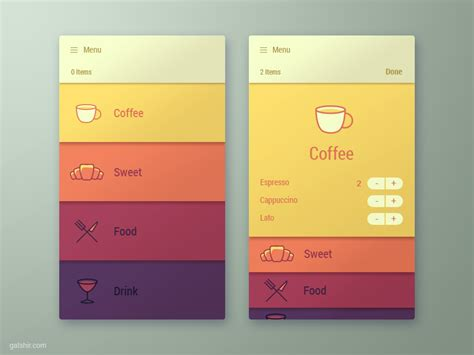 iphone menu layout menu app interface app mockup and menu