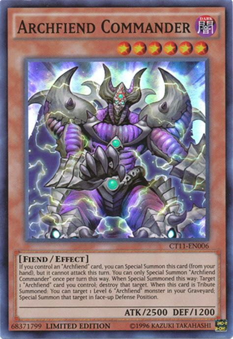Beast 5 11 Black List Blue archfiend commander ct11 en006 limited