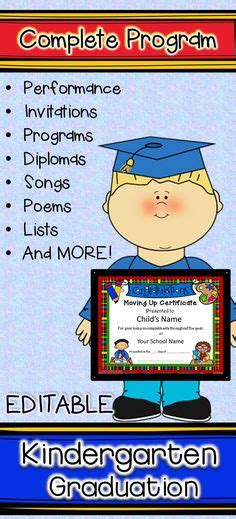 Kindergarten Graduation Program Great Expectations Poem Pre K Graduation Pinterest Preschool Graduation Program Template 2