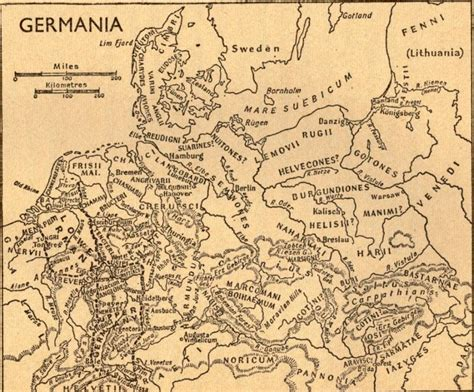 maps germania map of germania ancient germany by cornelius tacitus
