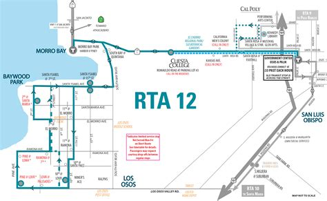 cal poly cus map route 12 slo cuesta college morro bay los osos san luis obispo regional transit authority