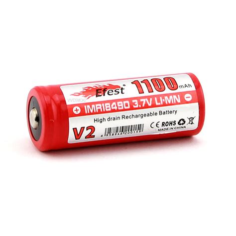 Efest Imr 18490 Li Mn Battery 1100mah 3 7v efest imr 18490 1100mah button top battery 8 25 vividsmoke