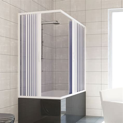 Plastic Folding Shower Doors Bath Shower Enclosure Plastic Pvc Folding Doors Panel Central Opening Ebay
