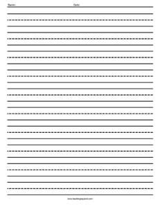 printable writing paper with dotted lines writing paper teaching squared