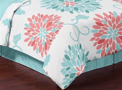 turquoise and coral bedding turquoise and coral emma 3 piece childrens teen kids