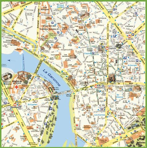 map of toulouse toulouse city center map