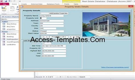 Microsoft Access Property Real Estate Management Templates Access Database And Templates Microsoft Access Database Template