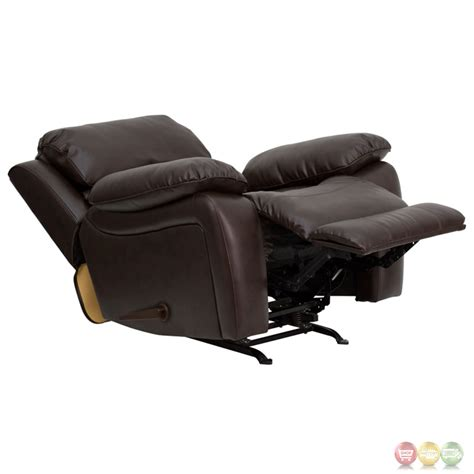 contemporary rocking recliner contemporary brown bonded leather rocker recliner