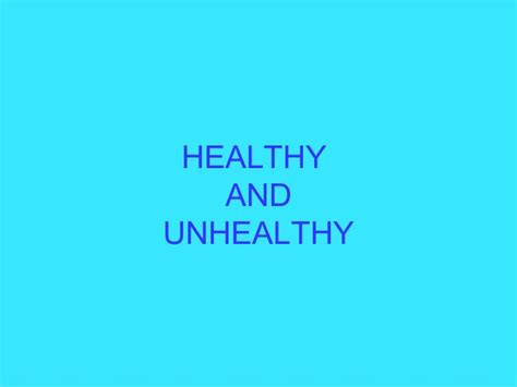 Habits Ppt Healthy And Unhealthy Habits Ppt Luc 237 A