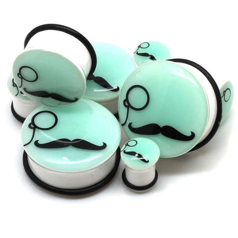 glow in the dark moustache tattoos classy plugs quite get in my closet pinterest