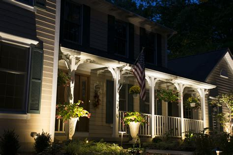 outdoor front porch lighting cleveland area landscape lighting design becomes an