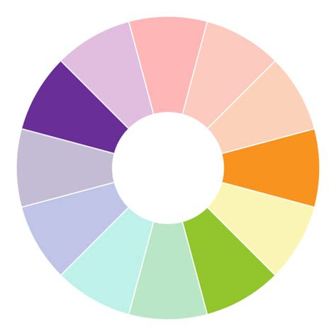 colour compliments opposite of purple on color wheel my web value