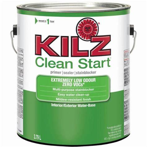 home depot paint with primer reviews kilz kilz clean start interior exterior primer sealer