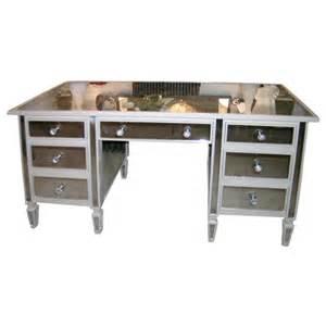 Beautifully made mirrored 7 drawer vanity desk at 1stdibs