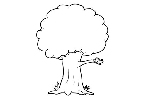 Coloring Page Of Tree free printable tree coloring pages for