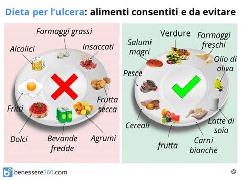 alimenti sconsigliati per diabetici dieta per ulcera gastrica cosa mangiare cibi da evitare