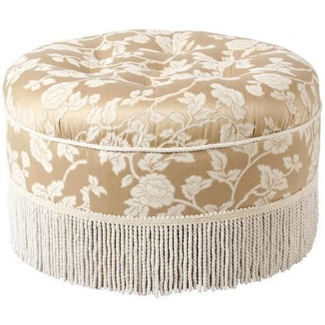 round tufted ottoman with fringe 197 best images about ottomans on pinterest