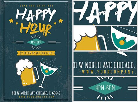 simple flyer template simple happy hour flyer template flyerheroes