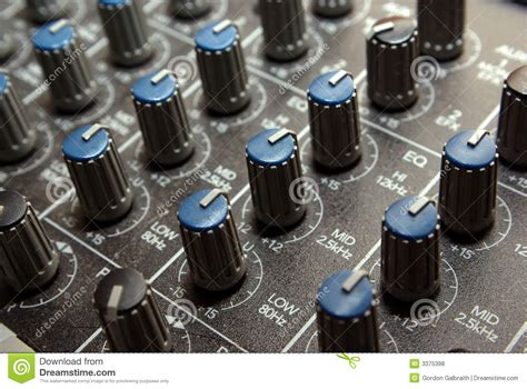 Soundboard Knobs by Audio Knobs Royalty Free Stock Photos Image 3375398