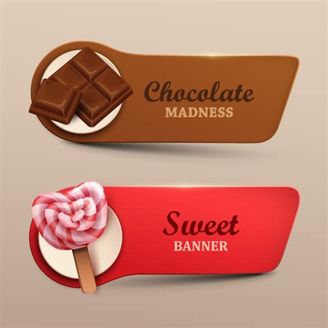 design banner sweet 17 chocolate with sweet banners vector vector banner free