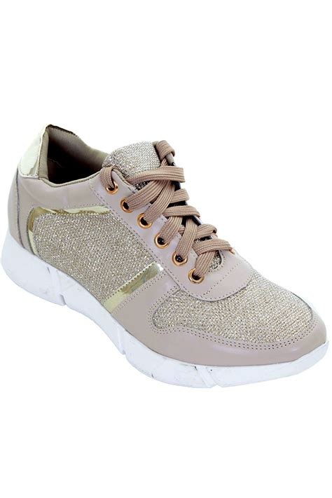shiny sneakers casual lace up shiny sport metallic glitter