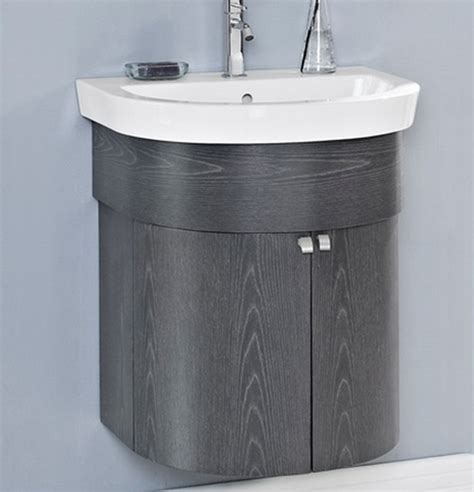 fairmont boulevard 24 quot curved wall mount vanity charcoal