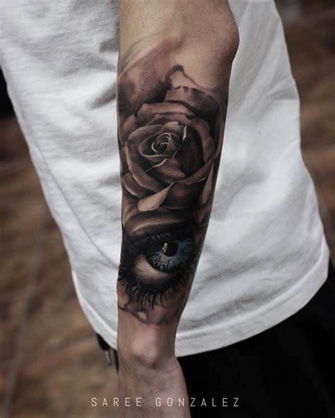 rose with eye tattoo 1000 ideas about sleeve tattoos on mens