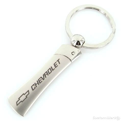 chevy blade chrome key chain