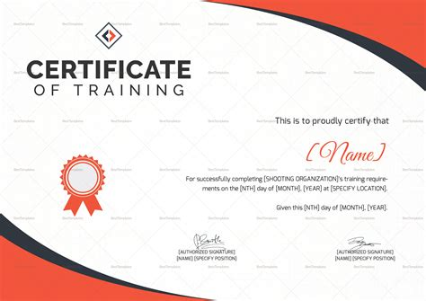 shooting certificate templates shooting certificate design template in psd word